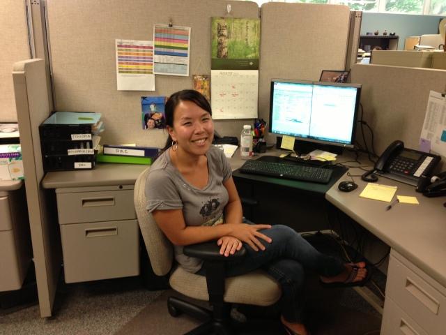 Tami at work at WACAP