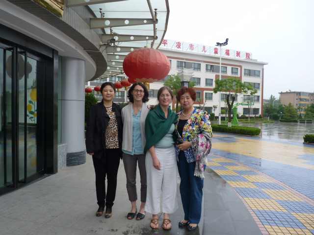 Mary and Elana in China